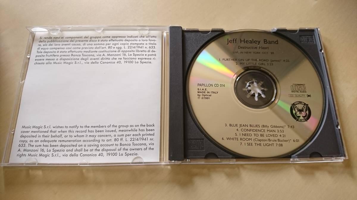 JEFF HEALEY BAND ジェフ・ヒーリー・バンド『DESTRUCTIVE HEART』