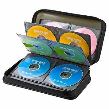 ブラック 96枚収納 サンワサプライブルーレイディスク対応セミハードケース(96枚収納・ブラック) FCD-WLBD96BK_画像1