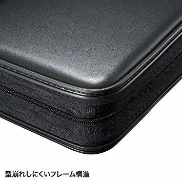 ブラック 96枚収納 サンワサプライブルーレイディスク対応セミハードケース(96枚収納・ブラック) FCD-WLBD96BK_画像5