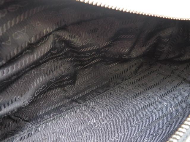 【大黒屋73】PRADA プラダ セカンドバッグ ポーチ 2NA001 カーフ ブラック_画像6