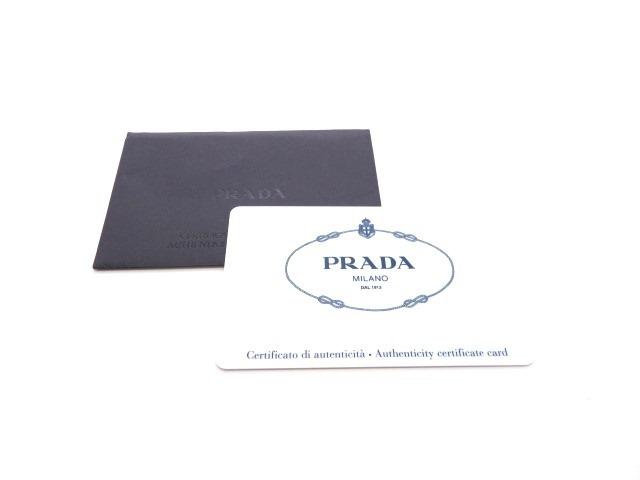 【大黒屋73】PRADA プラダ セカンドバッグ ポーチ 2NA001 カーフ ブラック_画像9