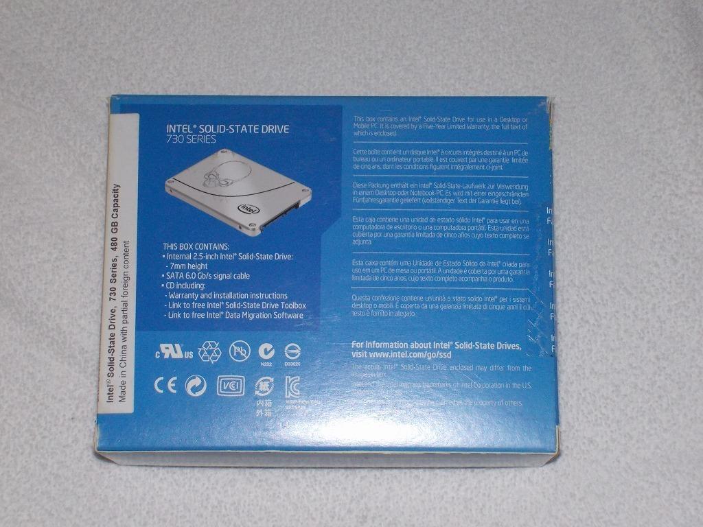 未開封・未使用品 インテル SSD 730 Series 480GB MLC 2.5inch 7mm BOX SSDSC2BP480G4R5 送料無料