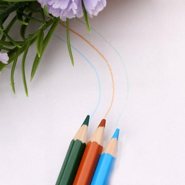 くるくるコンパクト♪ 72色 色鉛筆 セット ケース付 ペン スケッチ お絵描き 塗り絵 アート 子供 学生 芸術 美術 えんぴつ 文具 書 _画像4