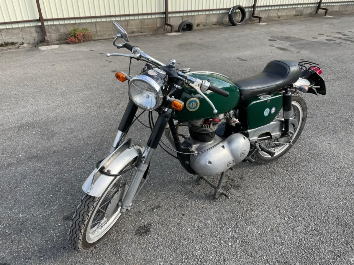 「ヴィンテージバイク 英国 AJS おそらく1965年」の画像2