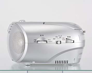 ■●▲シルバー オーム電機 Audio Comm CDラジオカセットレコーダーシルバー 550S RCD-550Z-S_画像3