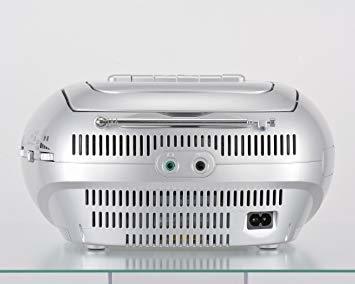 ■●▲シルバー オーム電機 Audio Comm CDラジオカセットレコーダーシルバー 550S RCD-550Z-S_画像4