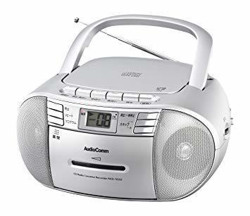 ■●▲シルバー オーム電機 Audio Comm CDラジオカセットレコーダーシルバー 550S RCD-550Z-S_画像1