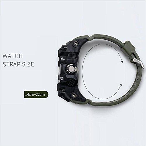 腕時計 メンズ SMAEL腕時計 メンズウォッチ 防水 スポーツウォッチ アナログ表示 デジタル クオーツ腕時計  多機能 ミリ_画像4