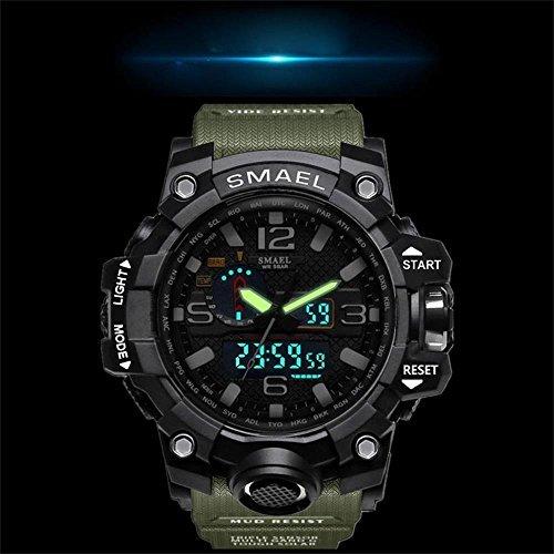腕時計 メンズ SMAEL腕時計 メンズウォッチ 防水 スポーツウォッチ アナログ表示 デジタル クオーツ腕時計  多機能 ミリ_画像3