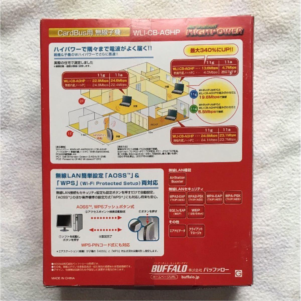 バッファロー カードバス用無線子機 WLI-CB-AGHP