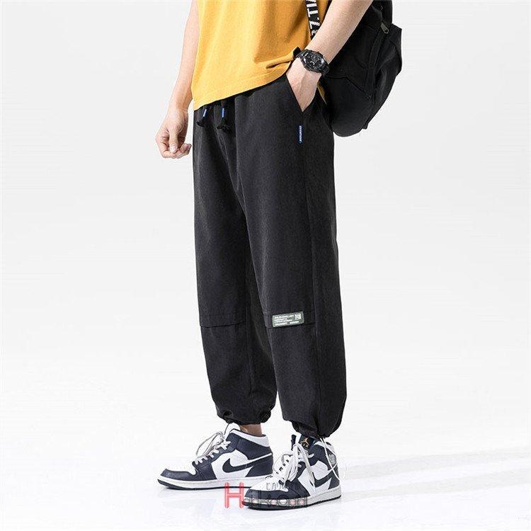 ジョガーパンツ メンズ カジュアル パンツ ズボン 薄手 リブ ジョガーパンツ メンズ 長ズボン 薄手 パンツ ロングパンツ アンクル 無地