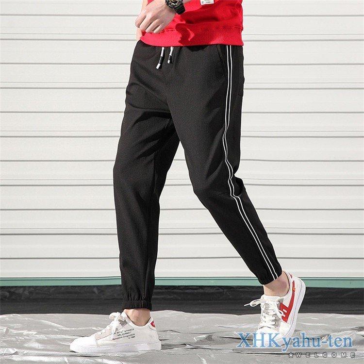 イージーパンツ テーパードパンツ メンズ サイドライン テーパードパンツ メンズ イージーパンツ カジュアルパンツ スリム ボトムス 春服