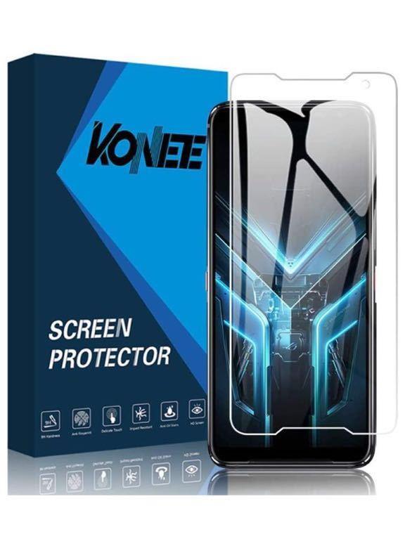 Asus ROG Phone 3 ZS661KS ガラスフィルム 【2枚セット】日本製素材旭硝子製 強化ガラス 高透過率99% 硬度9H 超薄 気泡ゼロ 飛散防止_画像1