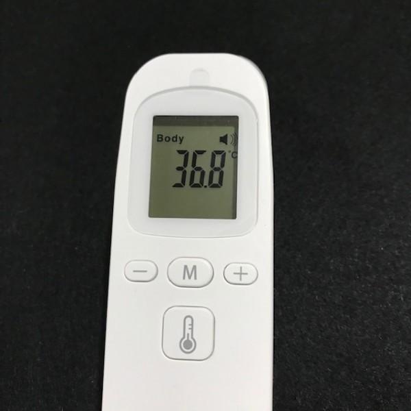非接触体温計 液晶表示 1秒検温 会社大量注文承り 子供 大人 赤外線温度計 温度計 体温計 衛生 触れない 安全 ■ 新品_画像3