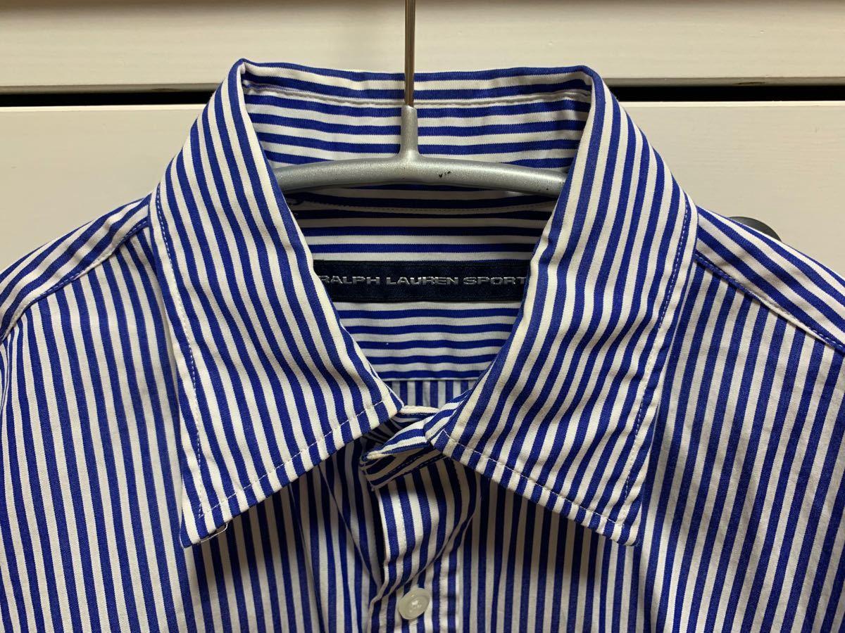 Ralph Lauren sport ラルフローレン ストライプシャツ ブルー 長袖シャツ
