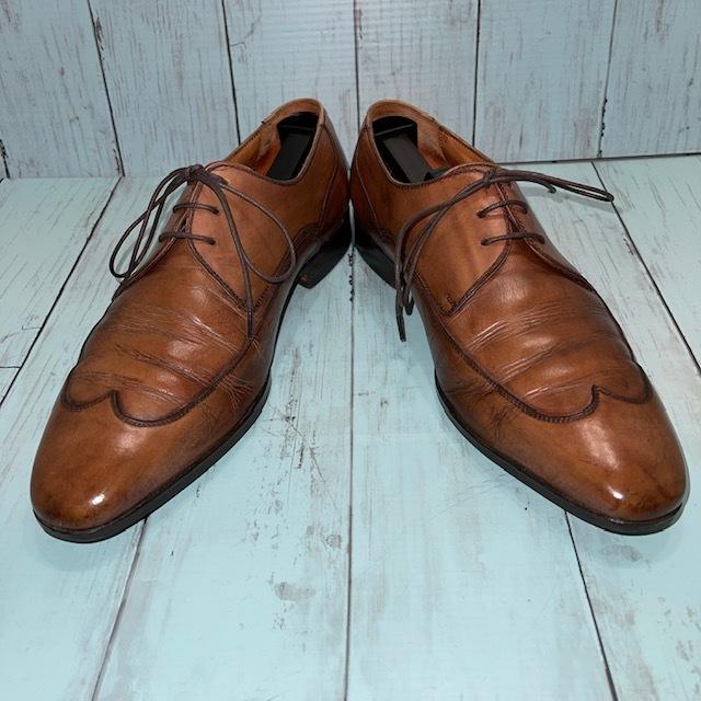 【即決】BARRATS バラッツ サイズ7 25cm ウイングチップ ビジネスシューズ 茶 ブラウン 革靴_画像1