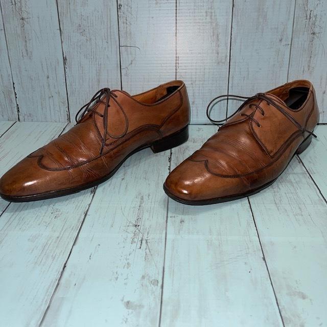 【即決】BARRATS バラッツ サイズ7 25cm ウイングチップ ビジネスシューズ 茶 ブラウン 革靴_画像2