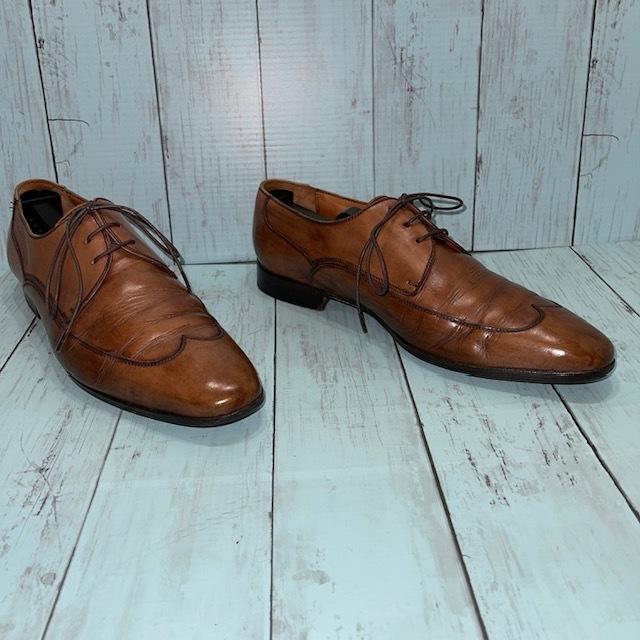 【即決】BARRATS バラッツ サイズ7 25cm ウイングチップ ビジネスシューズ 茶 ブラウン 革靴_画像3