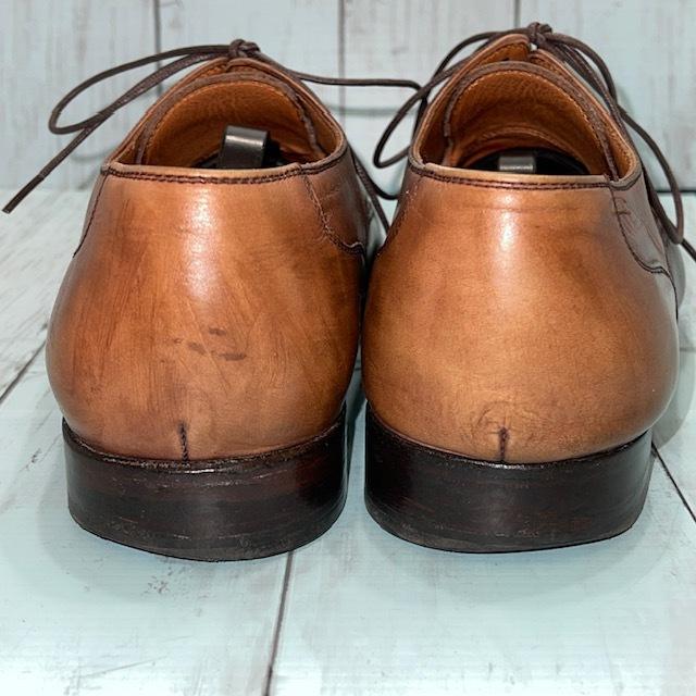 【即決】BARRATS バラッツ サイズ7 25cm ウイングチップ ビジネスシューズ 茶 ブラウン 革靴_画像4