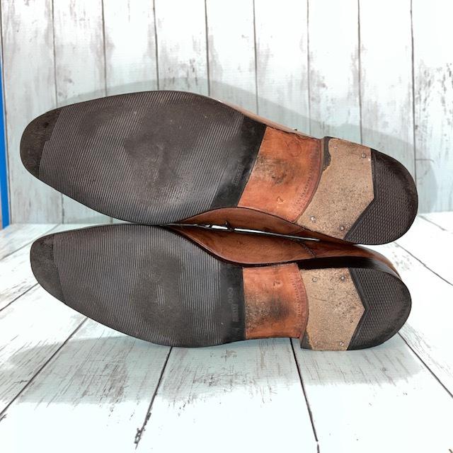【即決】BARRATS バラッツ サイズ7 25cm ウイングチップ ビジネスシューズ 茶 ブラウン 革靴_画像5
