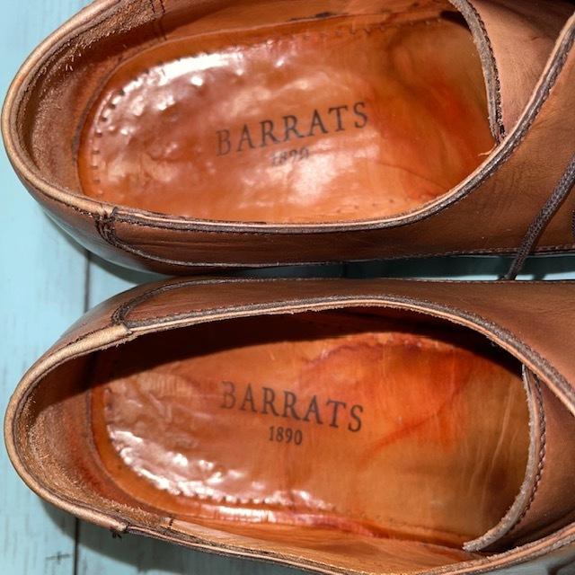 【即決】BARRATS バラッツ サイズ7 25cm ウイングチップ ビジネスシューズ 茶 ブラウン 革靴_画像6