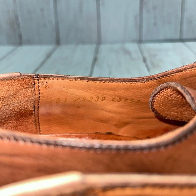 【即決】BARRATS バラッツ サイズ7 25cm ウイングチップ ビジネスシューズ 茶 ブラウン 革靴_画像7
