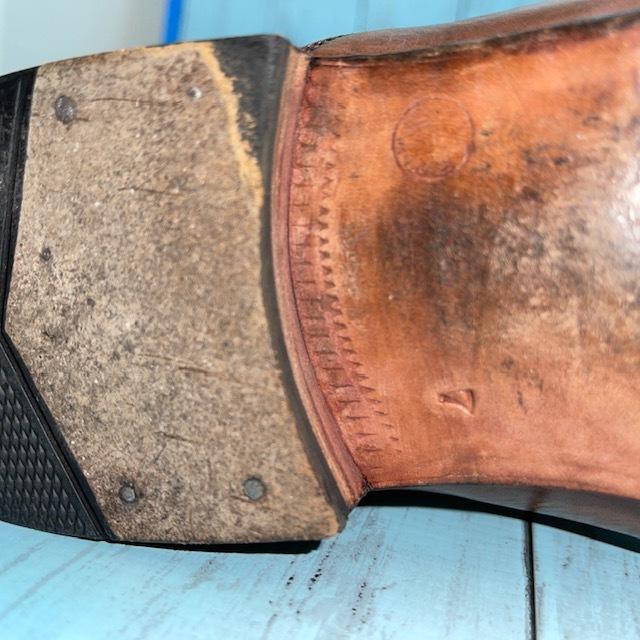 【即決】BARRATS バラッツ サイズ7 25cm ウイングチップ ビジネスシューズ 茶 ブラウン 革靴_画像8