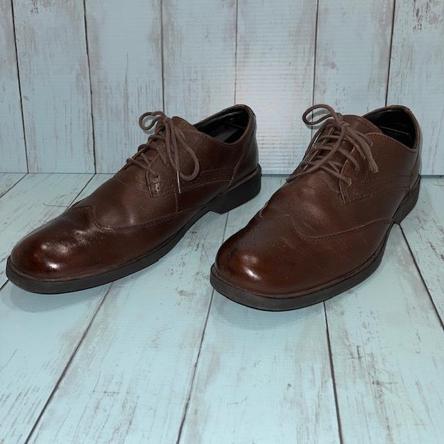 【即決】Timberland ティンバーランド 26cm ウイングチップ 茶 ブラウン 革靴 ビジネスシューズ_画像2