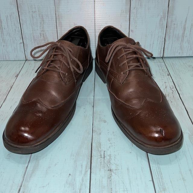 【即決】Timberland ティンバーランド 26cm ウイングチップ 茶 ブラウン 革靴 ビジネスシューズ_画像1