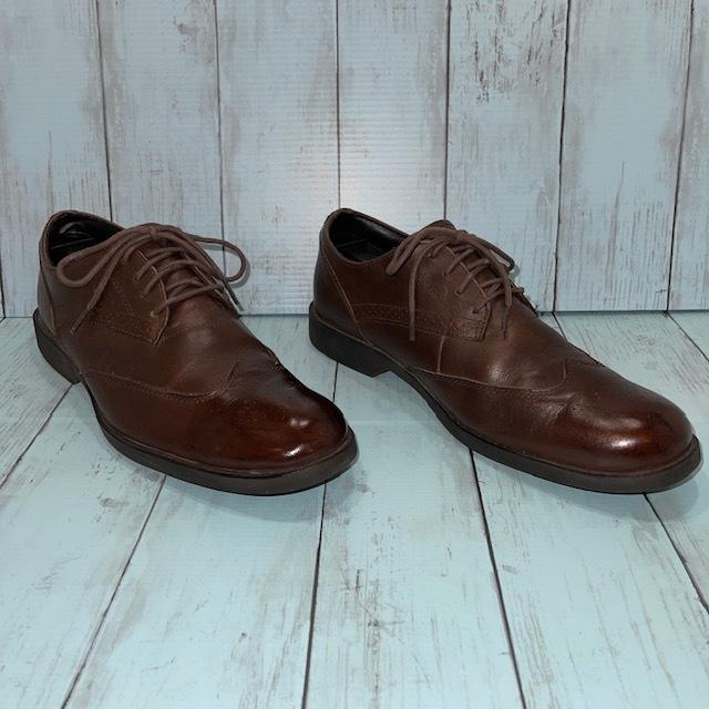 【即決】Timberland ティンバーランド 26cm ウイングチップ 茶 ブラウン 革靴 ビジネスシューズ_画像3