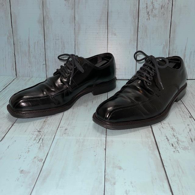 【即決/送料無料】Hawkins ホーキンス 25.0~25.5cm EUR40 スワールトゥ 黒 ブラック 革靴 ビジネスシューズ_画像2