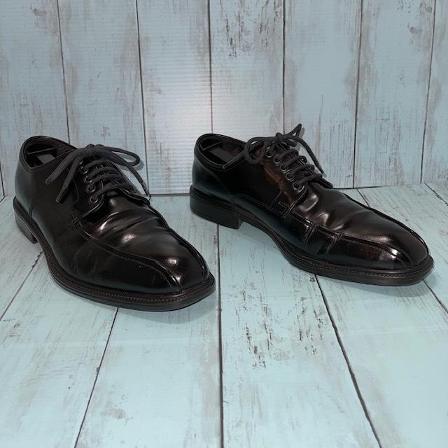 【即決/送料無料】Hawkins ホーキンス 25.0~25.5cm EUR40 スワールトゥ 黒 ブラック 革靴 ビジネスシューズ_画像3