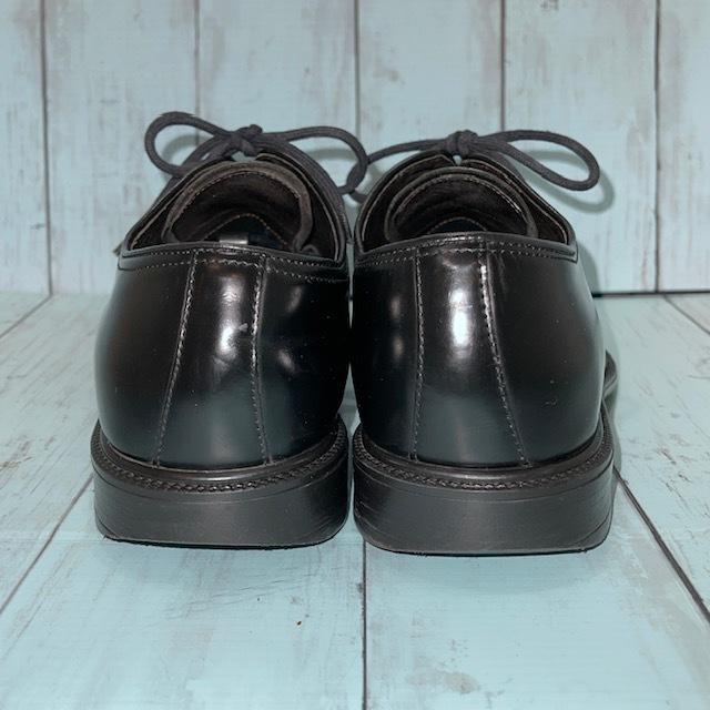 【即決/送料無料】Hawkins ホーキンス 25.0~25.5cm EUR40 スワールトゥ 黒 ブラック 革靴 ビジネスシューズ_画像4