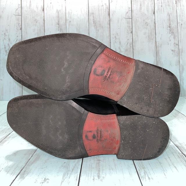 【即決/送料無料】Hawkins ホーキンス 25.0~25.5cm EUR40 スワールトゥ 黒 ブラック 革靴 ビジネスシューズ_画像5
