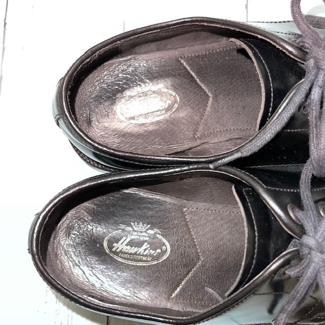 【即決/送料無料】Hawkins ホーキンス 25.0~25.5cm EUR40 スワールトゥ 黒 ブラック 革靴 ビジネスシューズ_画像6