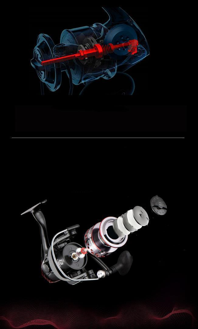 Z151 送料無料 フィッシング リール 釣り スピニングリール 3000番 釣り 5.2:1 湖 川 淡水釣り 海釣り ハンドル左右交換_画像5
