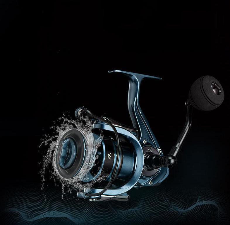 Z253 送料無料 フィッシング リール スピニングリール 6000番 4.7:1 釣り 深い溝のスプール ハンドル左右交換 最大ドラグ力15KG_画像2