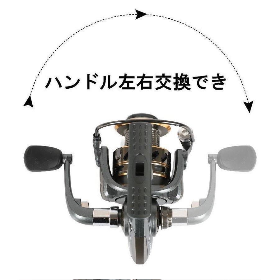 Z106 送料無料 フィッシング リール スピニングリール 4000番 釣り 海水 淡水 ギア比:5.2:1 遠投 最大ドラグ力:8KG ハンドル左右交換_画像5