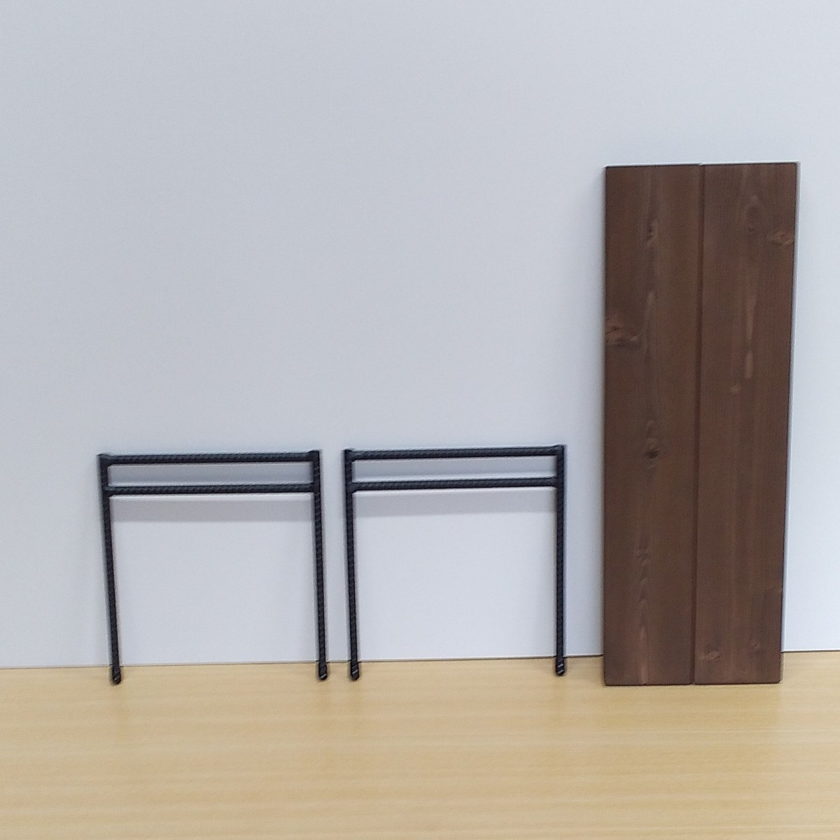 板2枚付 アイアンシェルフローテーブル アイアンレッグ 高さ230 アイアンテーブル キャンプ BBQ アイアンラック