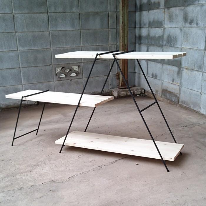 アイアンシェルフ 観葉植物ラック イベント 什器 多肉植物棚 キャンプテーブル 鉄脚 アイアンラック アイアンレッグ 多肉植物