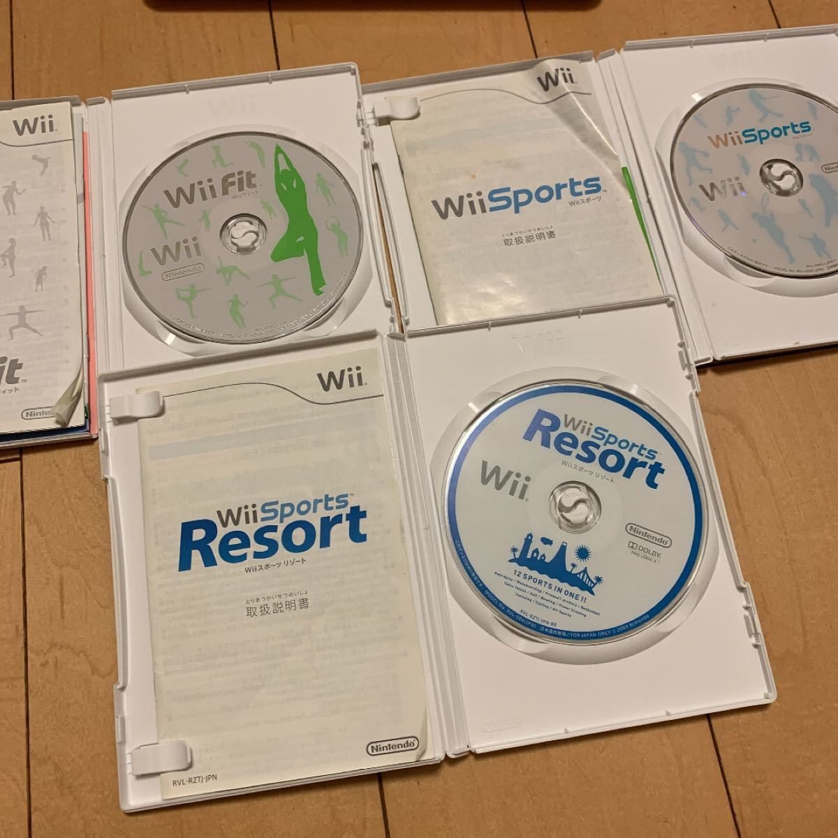 Wii スポーツ fit  スポーツリゾート  3枚セット