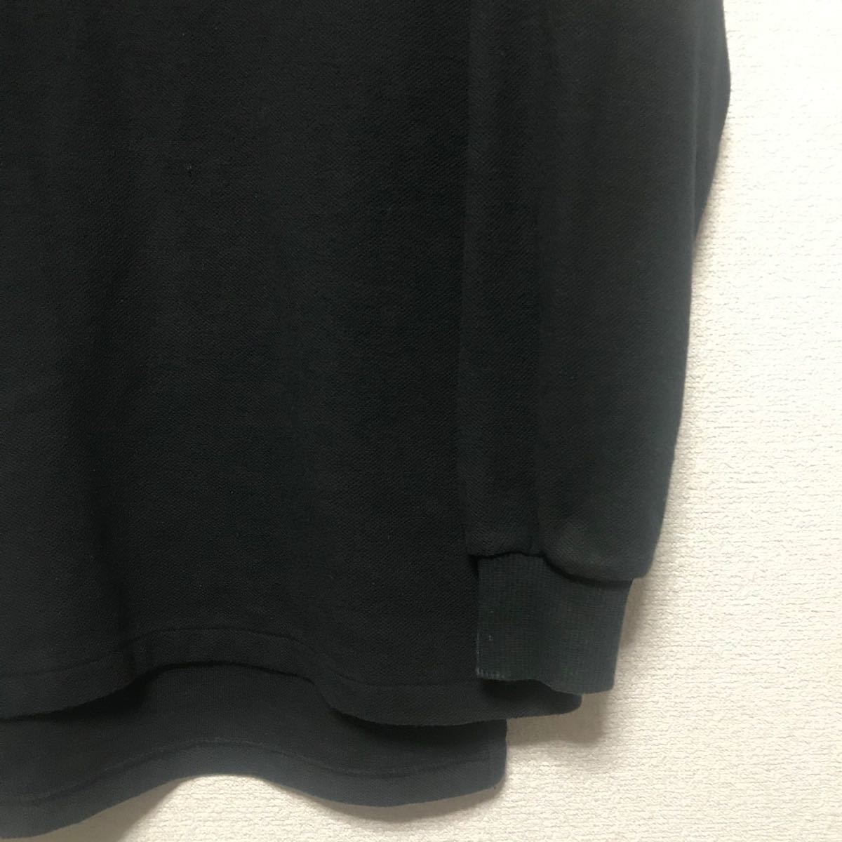 ポロラルフローレン ポロシャツ 長袖 黒 サイズM ロゴ刺繍
