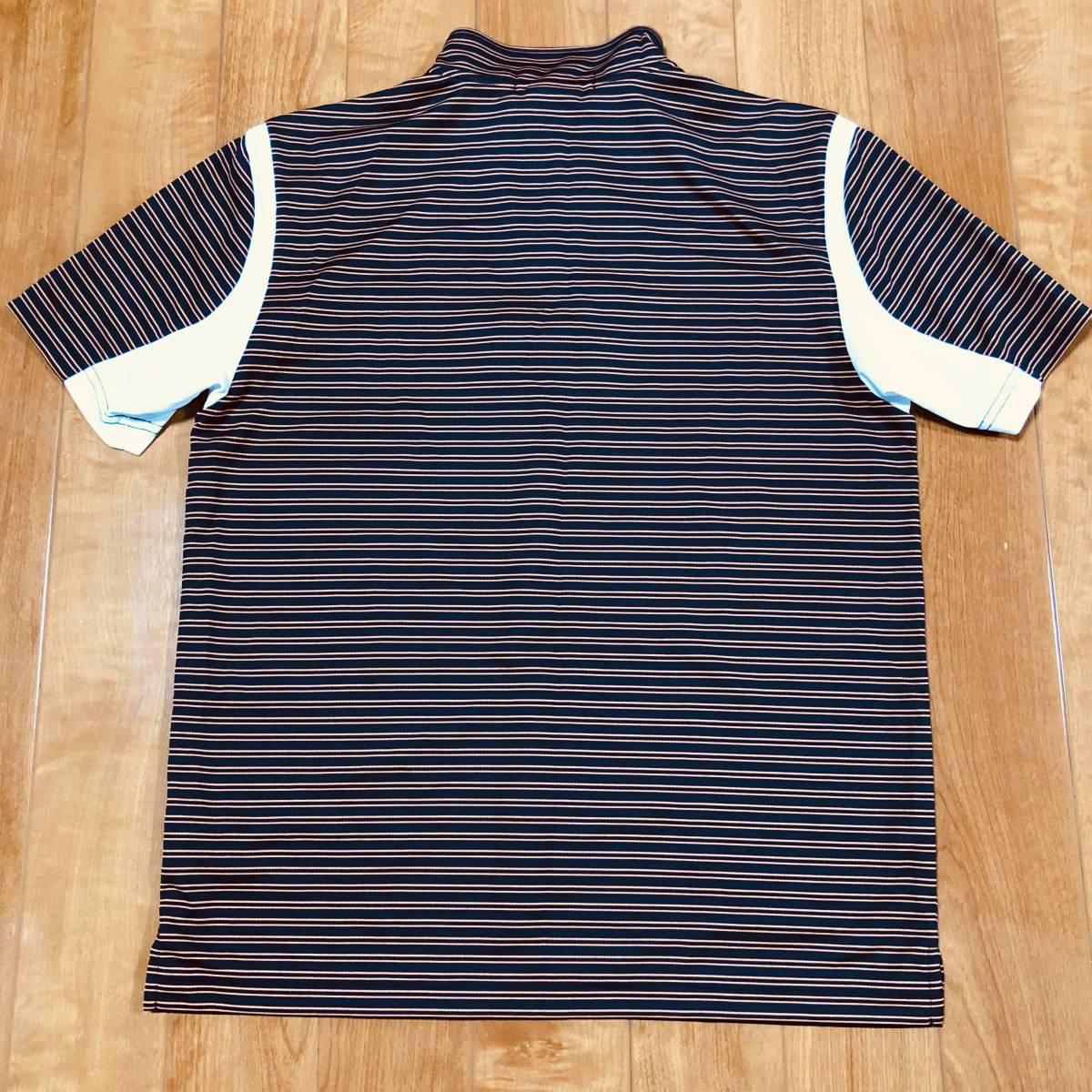 【le coq sportif golf】 ルコック ゴルフ ゴルフウェア 半袖 ハーフジップ ポロシャツ メンズ Mサイズ 美品!_画像2