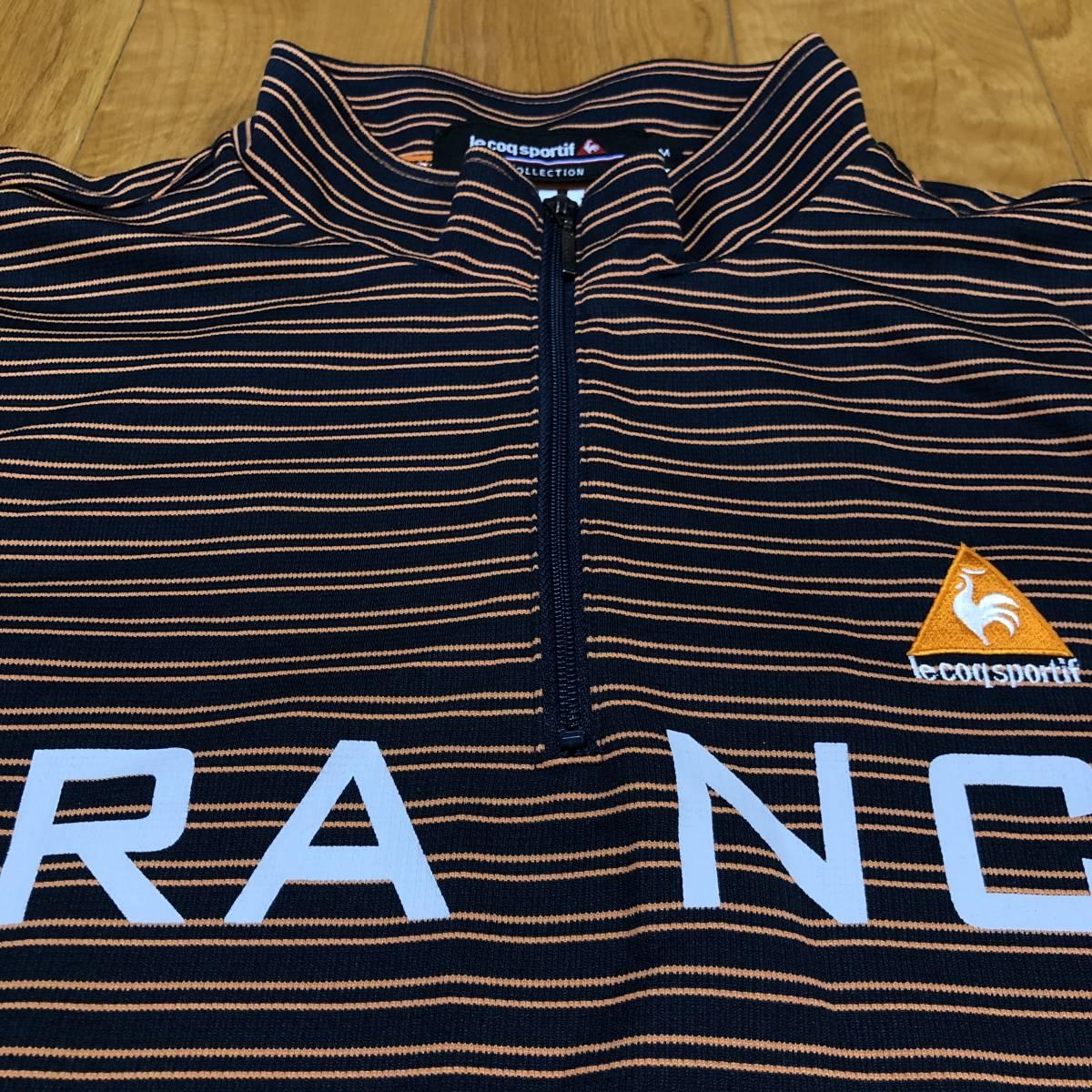 【le coq sportif golf】 ルコック ゴルフ ゴルフウェア 半袖 ハーフジップ ポロシャツ メンズ Mサイズ 美品!_画像4