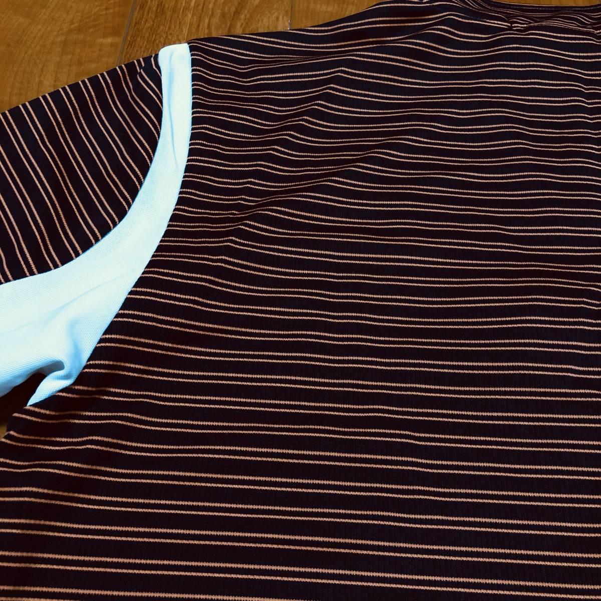 【le coq sportif golf】 ルコック ゴルフ ゴルフウェア 半袖 ハーフジップ ポロシャツ メンズ Mサイズ 美品!_画像5