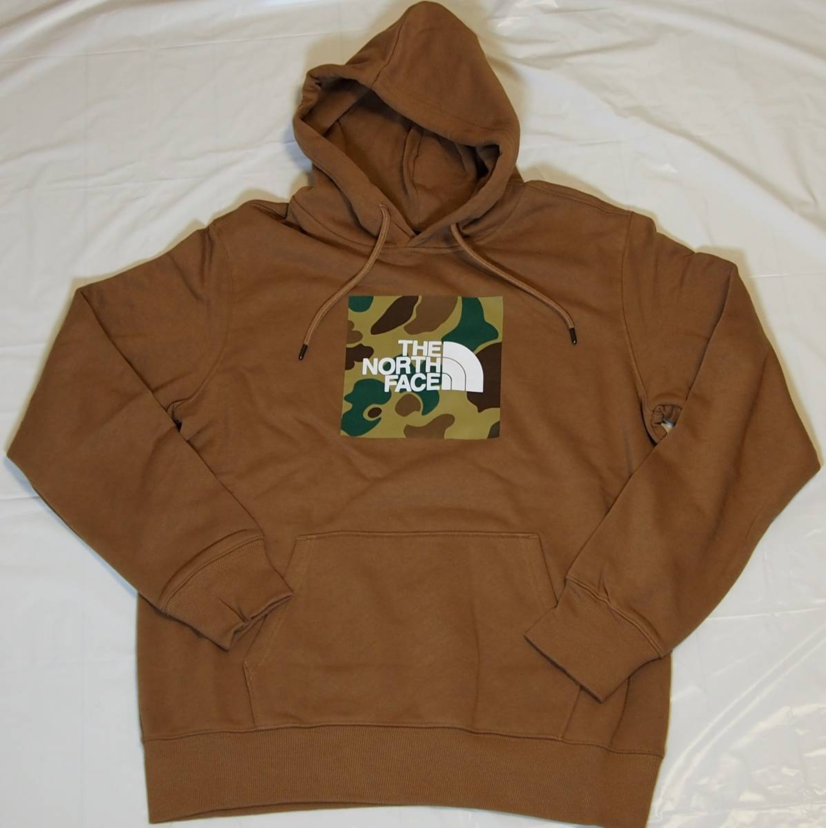 【USA購入、未使用タグ付】ノースフェイス メンズ パーカー Mサイズ ブラウン The North Face Boxed In Pullover Hoodie_画像1