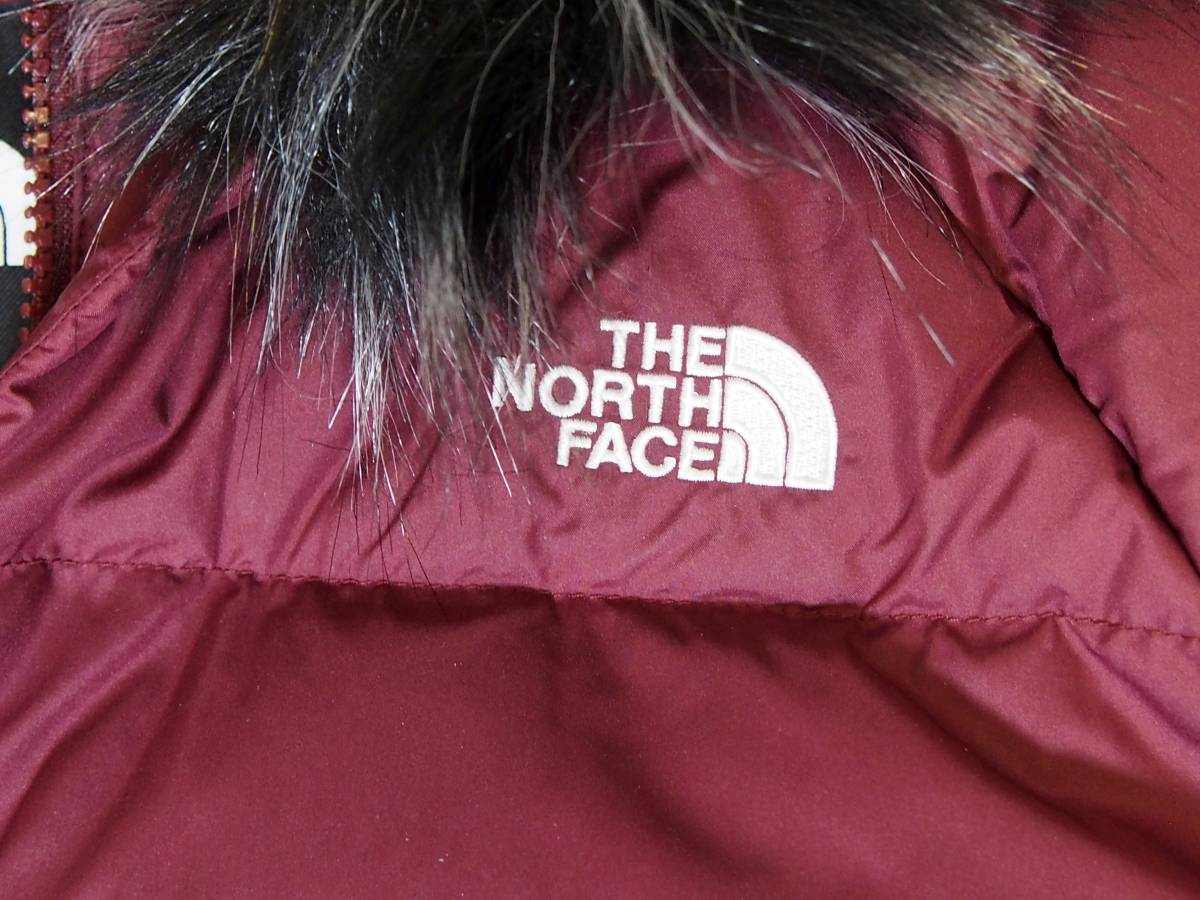 【USA購入、未使用タグ付】ノースフェイス レディース ダウンジャケット S ワインレッド系 The North Face Dealio Down Crop Jacket_画像2
