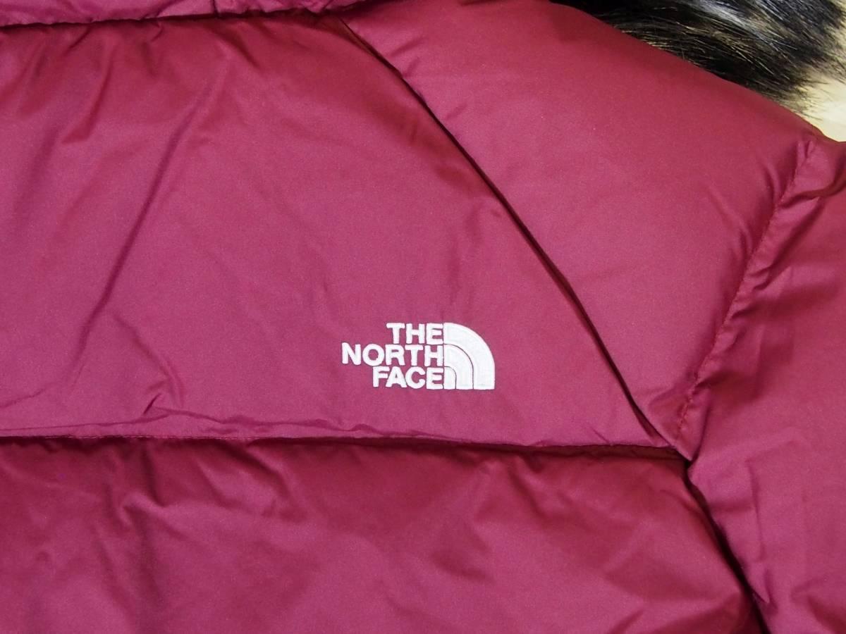 【USA購入、未使用タグ付】ノースフェイス レディース ダウンジャケット S ワインレッド系 The North Face Dealio Down Crop Jacket_画像4