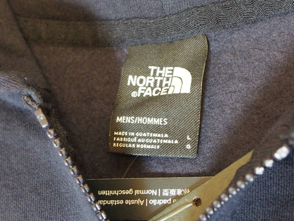 【USA購入、未使用タグ付】ノースフェイス フルジップパーカー L ネイビー The North Face Brand Proud Full Zip Hoodie_画像6