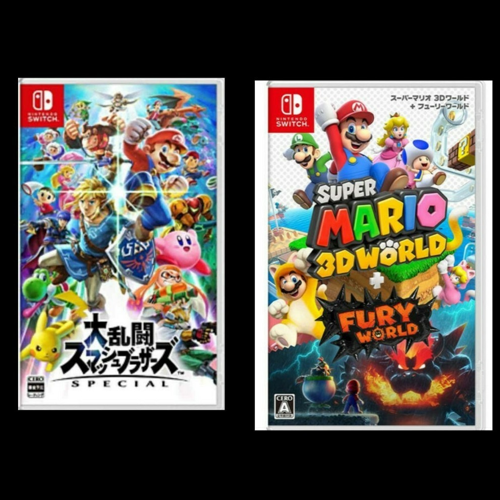 Switchソフトセット  スーパーマリオ3Dワールド+フューリーワールド 大乱闘スマッシュブラザーズ SPECIAL 新品未開封